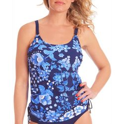 Womens Floral Side Tie Tankini Top