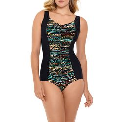 Paradise Bay Womens Pop Dots  Mio One Piece Swimsuit