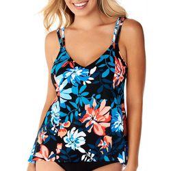 Paradise Bay Women Tropical Tankini Top