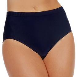 Womens Solid Swim Briefs