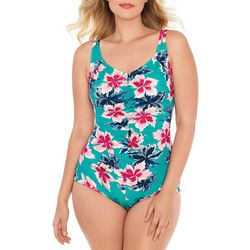 Paradise Bay Womens Starlet Mio Girl Leg One Piece Swimsuit