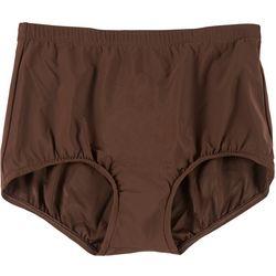 Penbrooke Womens High Waisted Solid Swim Bottoms