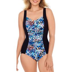 Paradise Bay Womens Spots Colorblock Mio One Piece