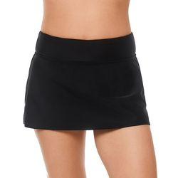 Reebok Womens Lifestyle Solid Skirted Swim Bottoms
