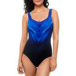 Womens Chevron Sheild One Piece Swimsuit