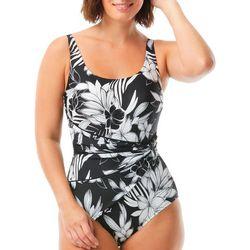Roxanne Womens Tropic Sash One Piece Swimsuit