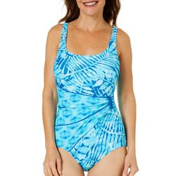 Roxanne Womens Marina Bay Sash One Piece Swimsuit