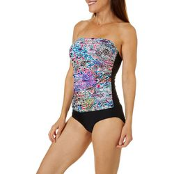 Emerald Bay Womens Prismatic Print Mio One Piece Swimsuit