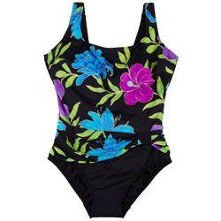 Robby Len Womens Tropical Sash Tie MIO One Piece Swimsuit