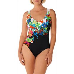 Womens Island Panel One Piece Swimsuit
