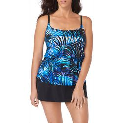 Robby Len Womens Miss Flower Triple Tier Skirtini Swimdress