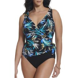 Womens Tropical Surplice MIO One Piece Swimsuit