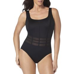 Robby Len Womens Mesh Caged One Piece Swimsuit