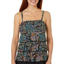 A Shore Fit Womens Bright Paisley Triple Tier