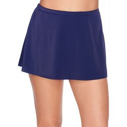 Trimshaper Womens Tummy Control Solid Swim Skirt