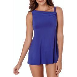 Womens Sarong Style Swim Dress
