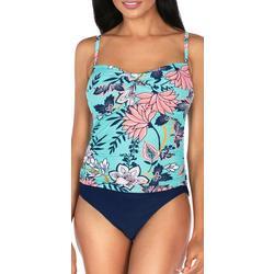 Womens Batik Print Twist Front MIO Tankini Top