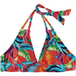 Caribbean Joe Womens Tropical Halter Bikini Top
