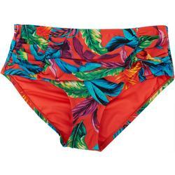 Womens Tropical High Waist Shaper Swim Bottoms
