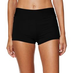 Caribbean Joe Womens Solid Shaper Swim Shorts