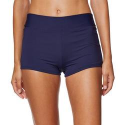 Womens Solid Shaper Swim Shorts