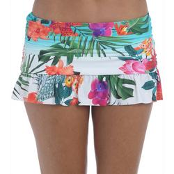 Womens Tropicalia Ruffle Swim Skirt