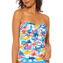 Bleu Rod Beattie Womens Floral Bandeau Tankini Top