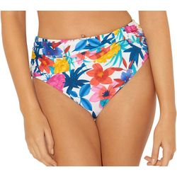 Bleu Rod Beattie Womens Floral High Waisted Bikini