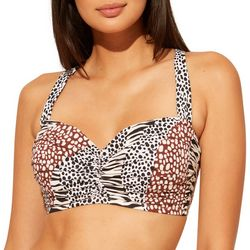 Bleu Rod Beattie Womens Animal D-Cup Bikini Swim Top