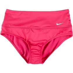 Nike Womens Essential Solid High Waist Swim Bottom
