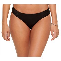 Womens Solid Brief Swim Bottoms