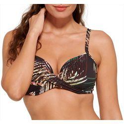 Evreyday Sunday Womens Palm Underwire Bra Swim Top
