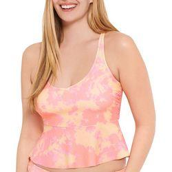 Aqua Couture Womens Tie Dye Tankini Top