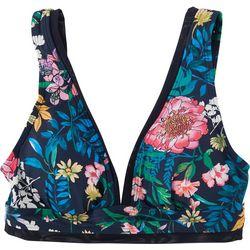 Tommy Hilfiger Womens Floral Bralette Swim Top