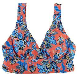 Jantzen Womens Persephone Floral Midkini Swim Top