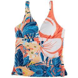 Womens Rainforest V-Neck Tankini Swim Top