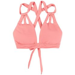 Becca Womens Color Code Skylar Cut Out Straps Swim Top