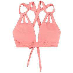 Womens Color Code Skylar Cut Out Straps Swim Top