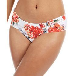 Womens Blossom Shirred Tab Bikini Bottoms