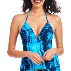 Women Snake Tie Dye Plunge Tankini Top