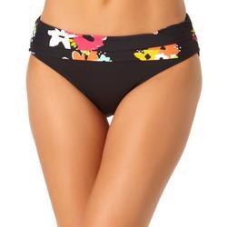 Anne Cole Signature Womens Floral Foldover Bikini Bottoms