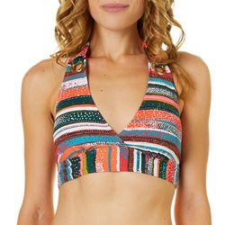 Anne Cole Signature Womens Sand Stripe Halter Swim Top