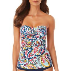 Anne Cole Signature Womens Paisley  Twist Tankini Top