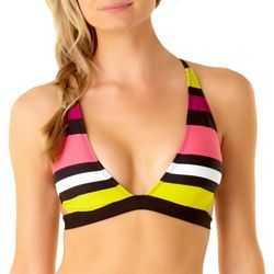 Cole of California Womens Striped Bralette Swim Top