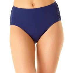 Cole of California Womens Solid High Waist Swim Bottoms