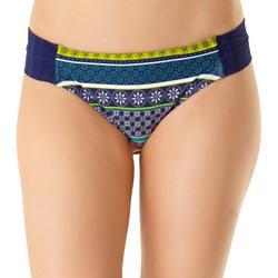 Womens Crochet Shirred Tab Swim Bottoms