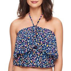 Womens Wildflower Ruffle Tankini Swim Top