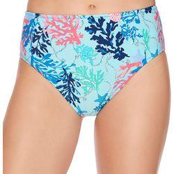 Womens Shore Thing High Waist Swim Bottoms