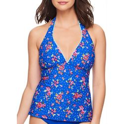 Vera Bradley Womens Bouquet Reversible Halter Tankini Top