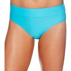 Reebok Womens Lifestyle Solid Drawcord Brief Swim Bottom